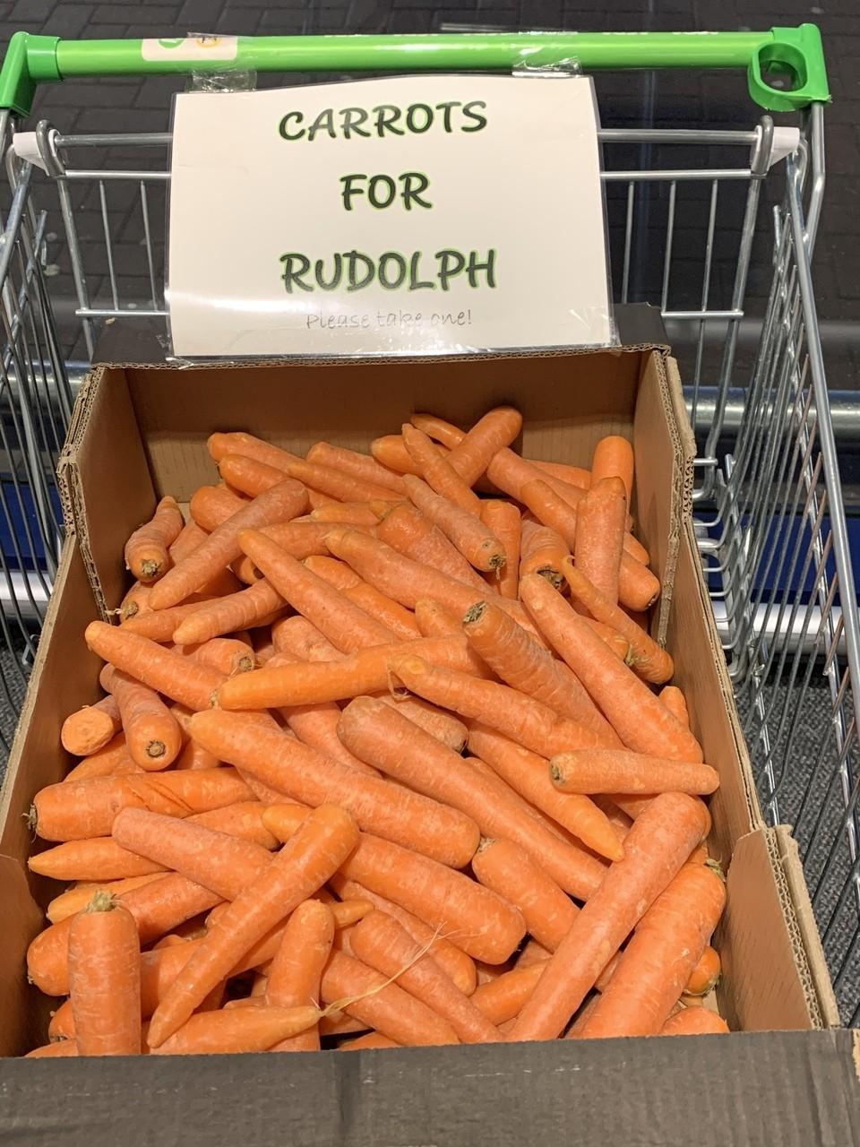 Carrots for Rudolph | Asda Aberdeen Beach