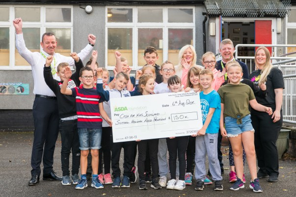 £145k donation to Cash For Kids projects in Scotland