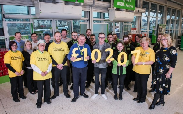 Store raises £10,000 for cancer centre is support of inspirational colleague Stuart