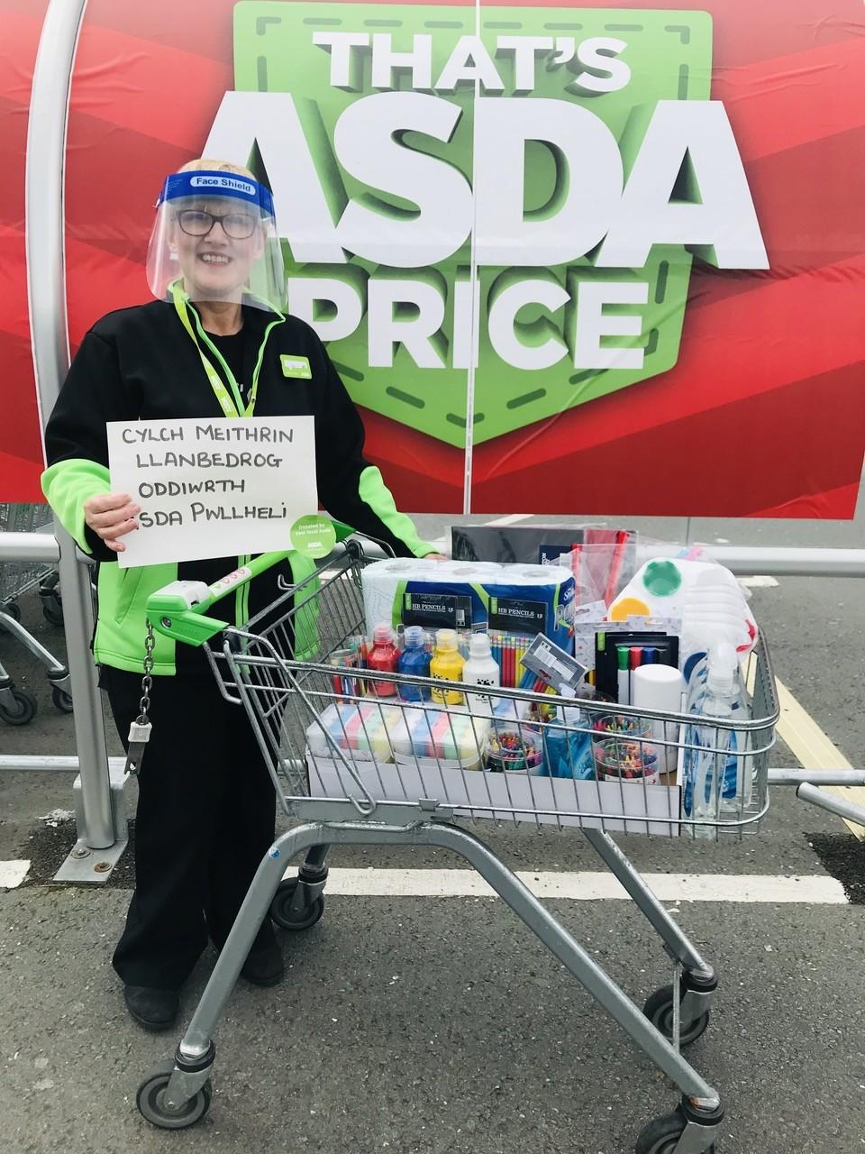 Playschool reopening donation | Asda Pwllheli