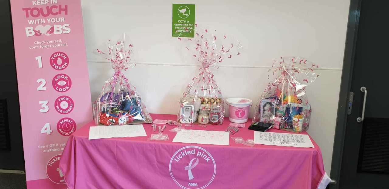 First Day of our Tickled Pink fundraising.  | Asda Spennymoor