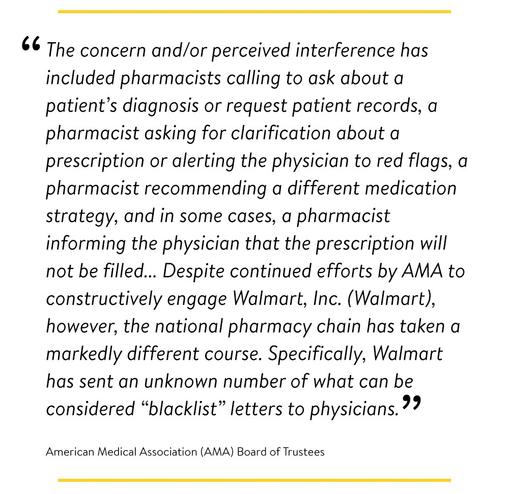 American Medical Association (AMA) Board of Trustees quote
