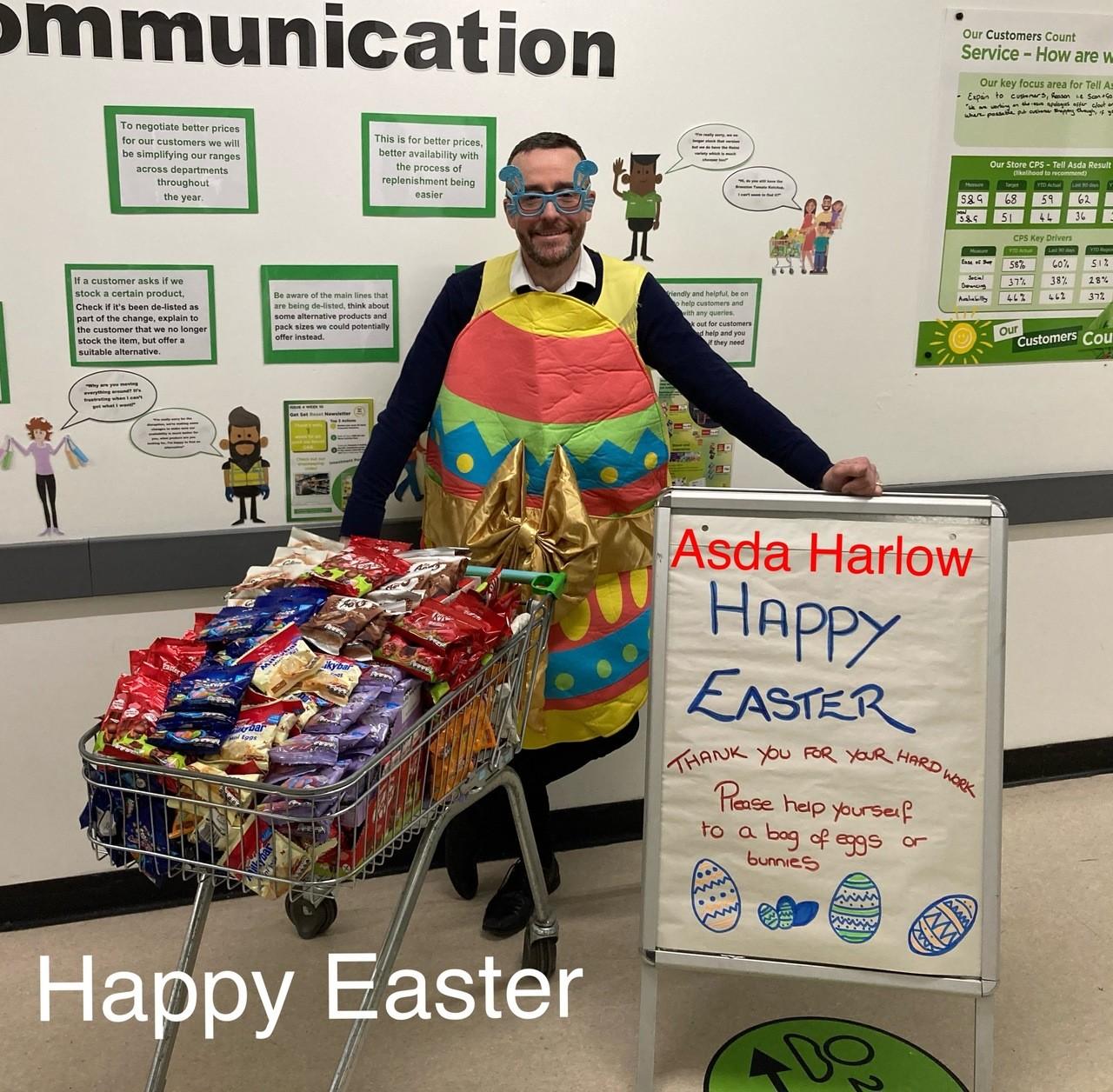 Happy Easter in Asda Harlow   Asda Harlow
