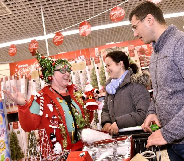 Neilann Robinson at Asda Carlisle loves transforming herself into Mrs Christmas