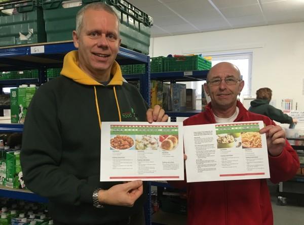 Asda Workington community champion Kevin Hunt with Adrian at North Lakes foodbank