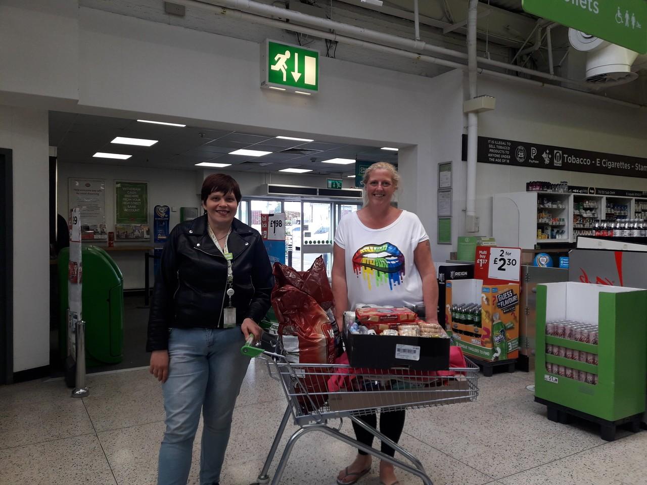Donation to Shawcross Care Home | Asda Golborne