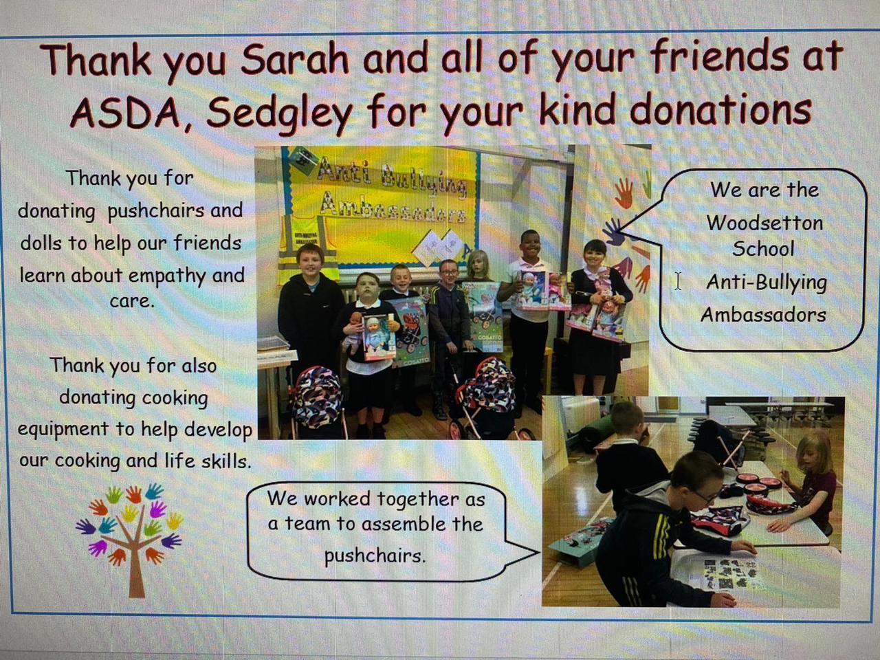 Donation to special school | Asda Sedgley