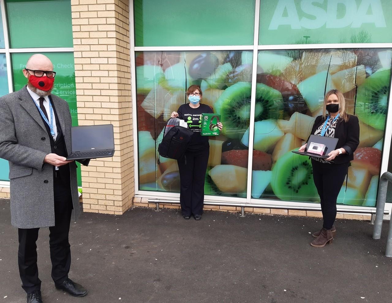 Laptop donation to Viewforth High School  | Asda Kirkcaldy