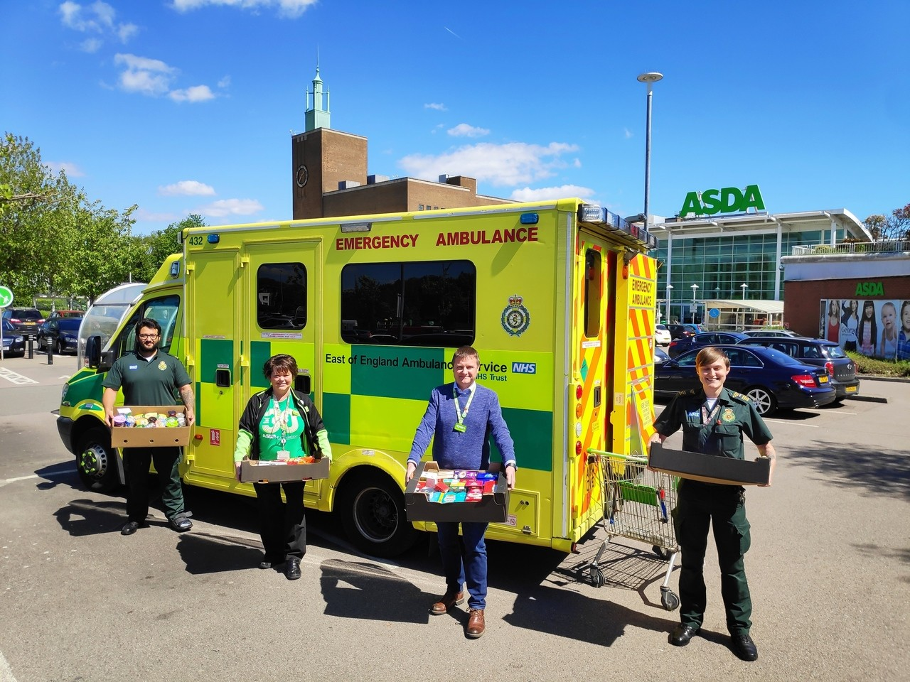Donations to ambulance crew | Asda Watford
