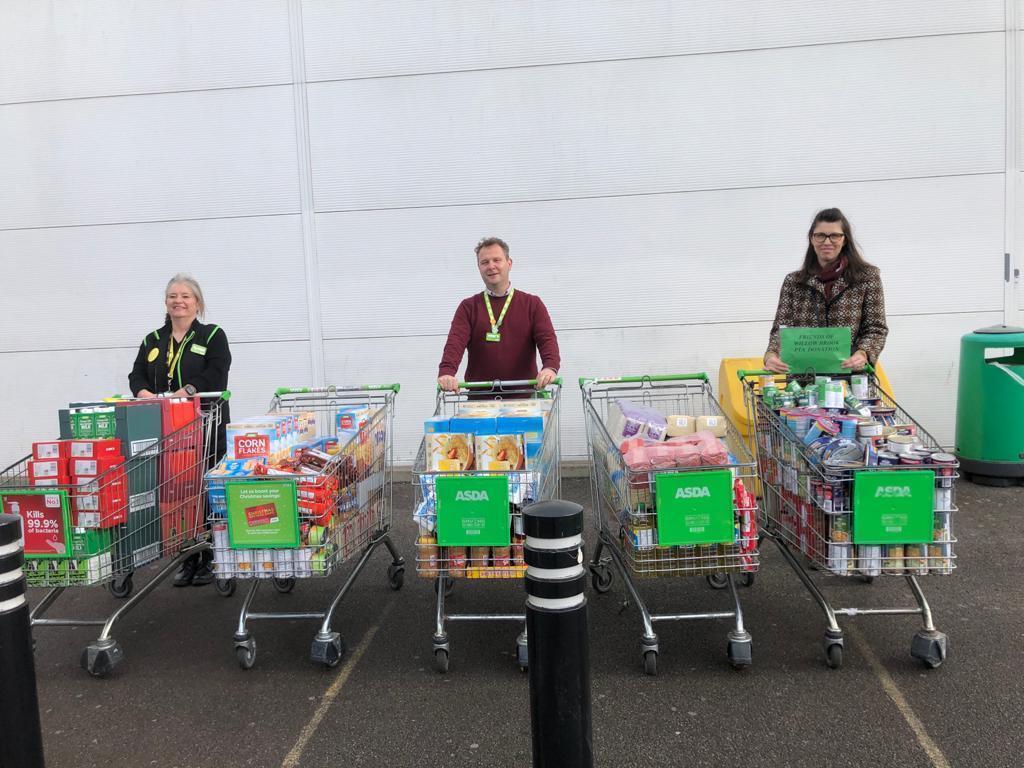 School foodbank support | Asda Leyton Mills