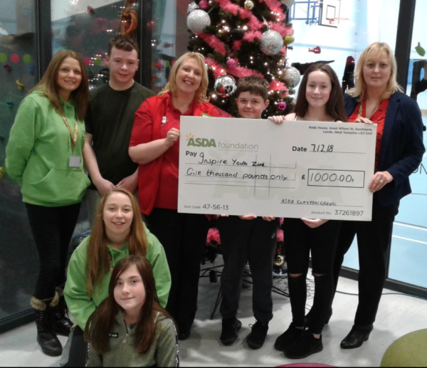 Asda Clayton Green donation to Inspire Youth Zone