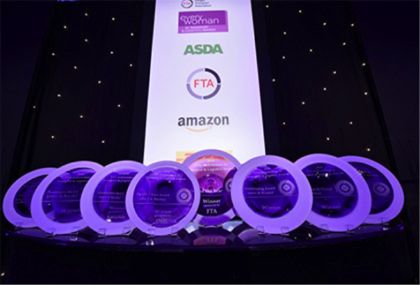 Three Asda Logistics Service colleagues won at the 2018 Everywoman in Transport and Logistics awards