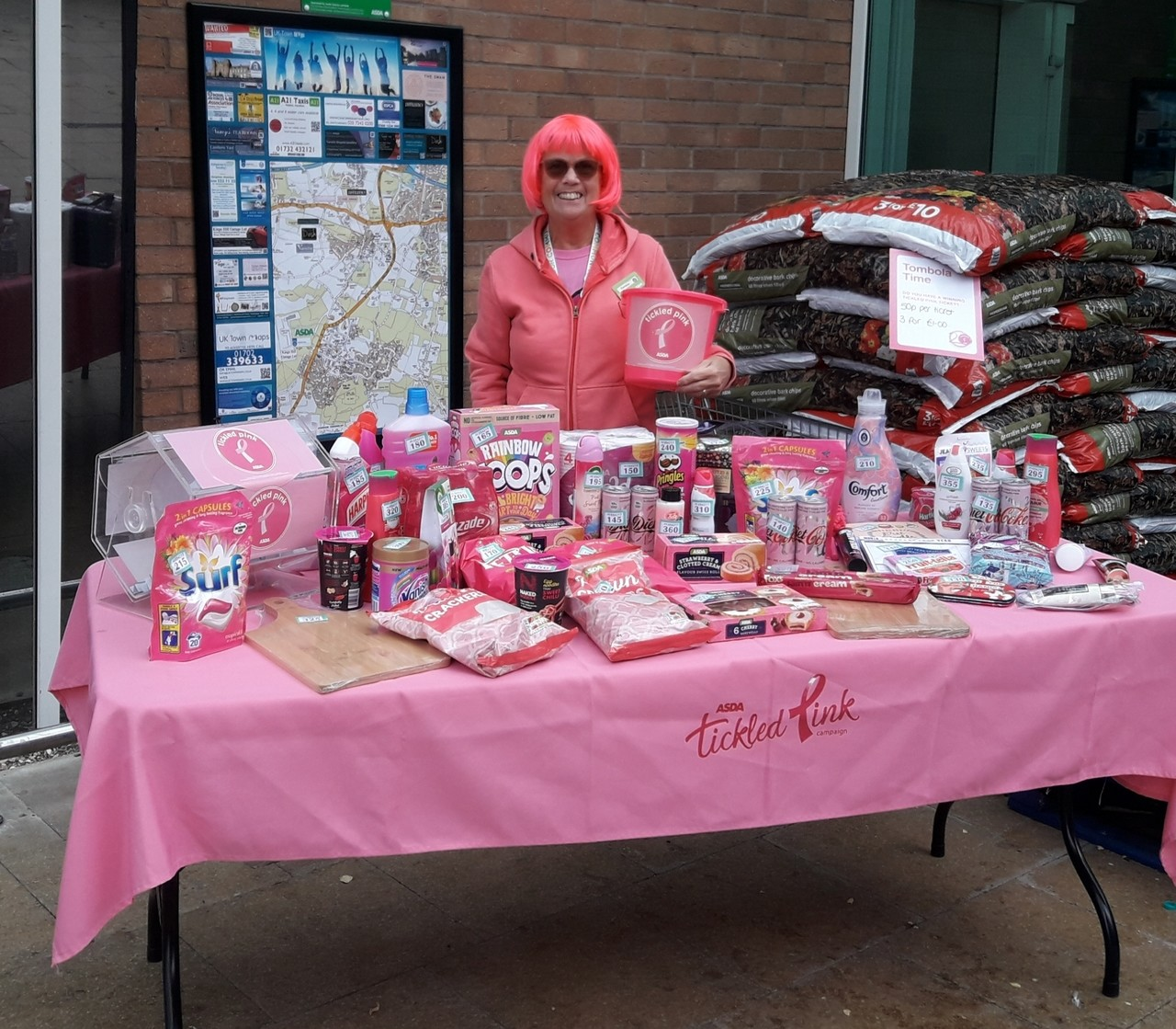 Tickled Pink support | Asda Kingshill