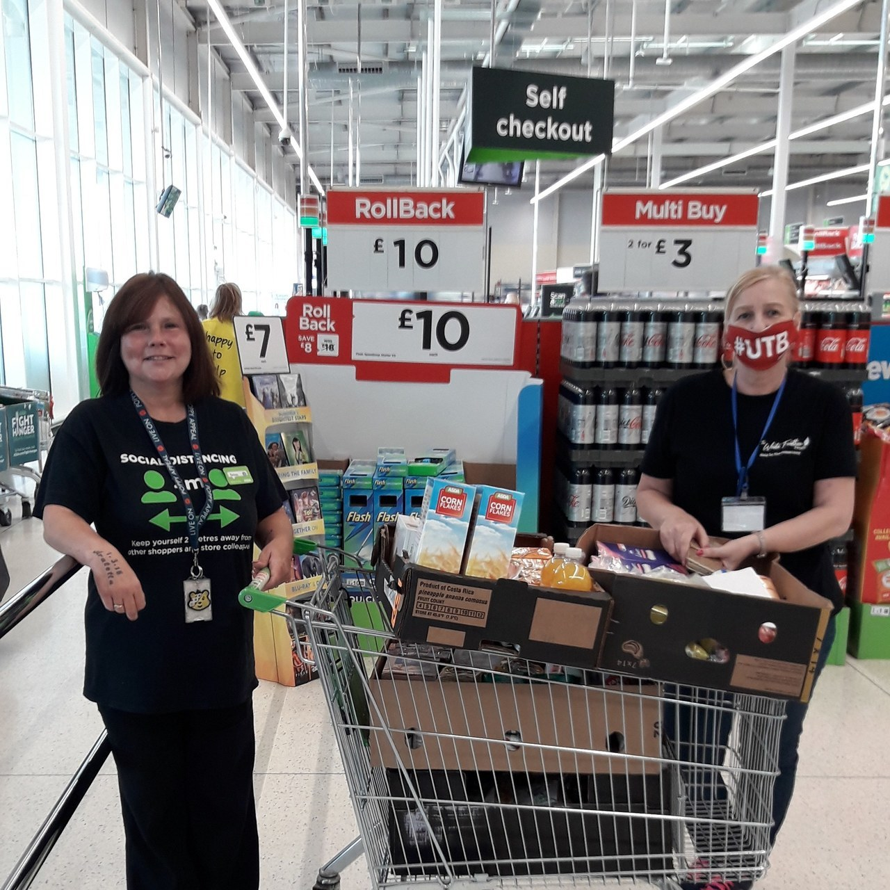 Donating food to The White Feather Project  | Asda Stockton
