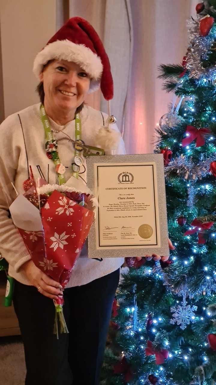 Overwhelmed by award | Asda Newport Isle of Wight