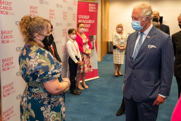 Helen-Louise Sestan-Burton from Asda Bromborough meeting His Royal Highnesss the Prince of Wales