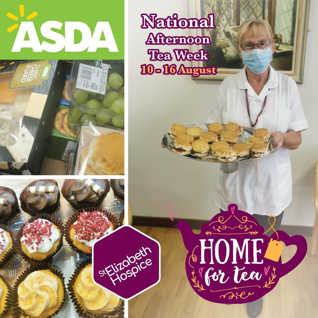 St Elizabeth Hospice National Afternoon Tea Week | Asda Ipswich Stoke Park