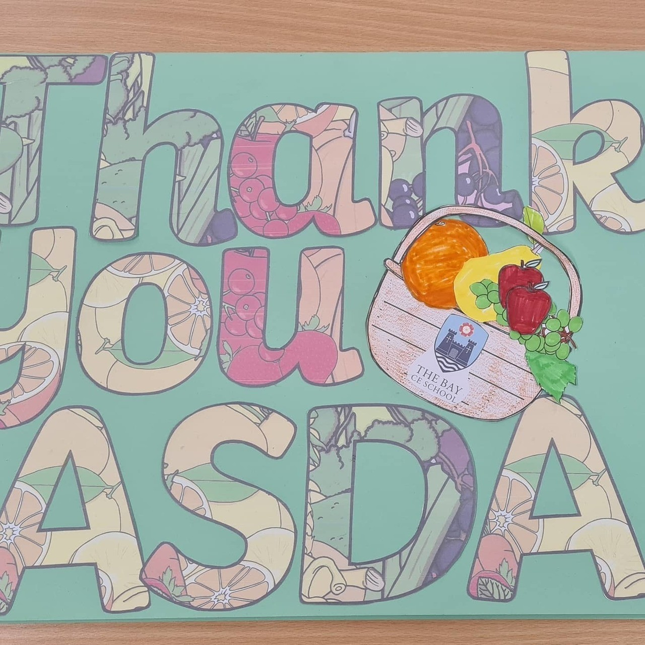 Lovely thank you card from school | Asda Newport Isle of Wight