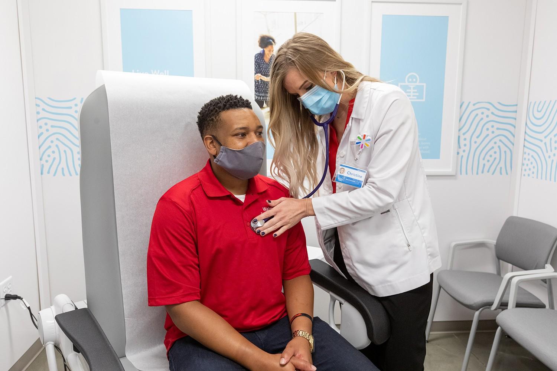 Walmart Health Elm Springs Patient with Doctor