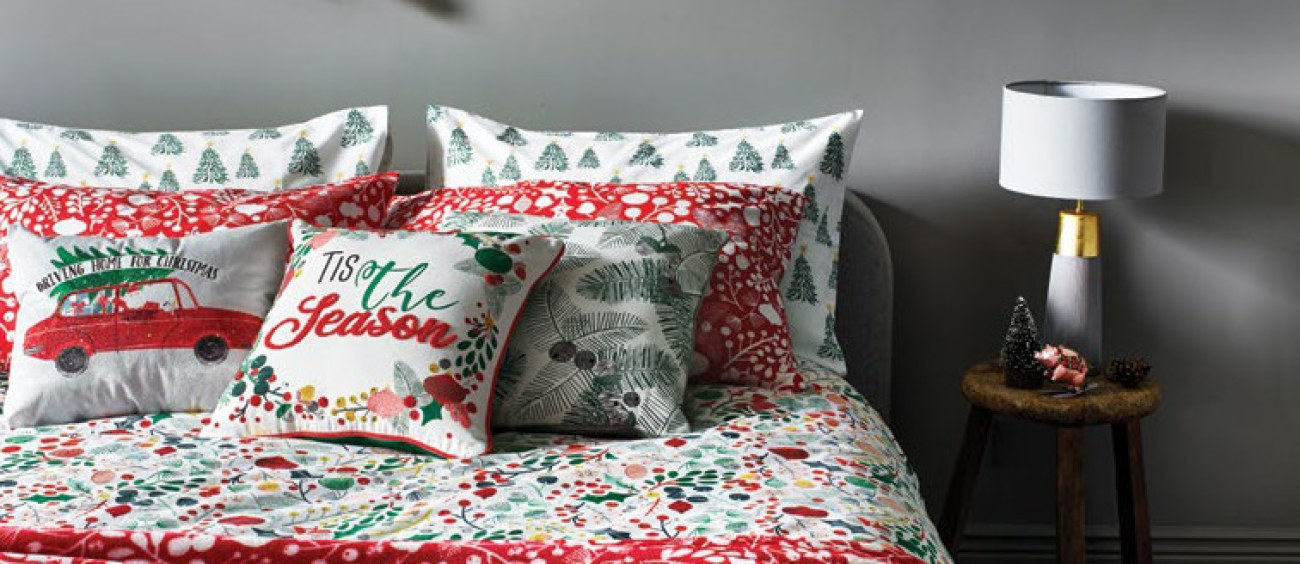 Christmas bedding - foliage design