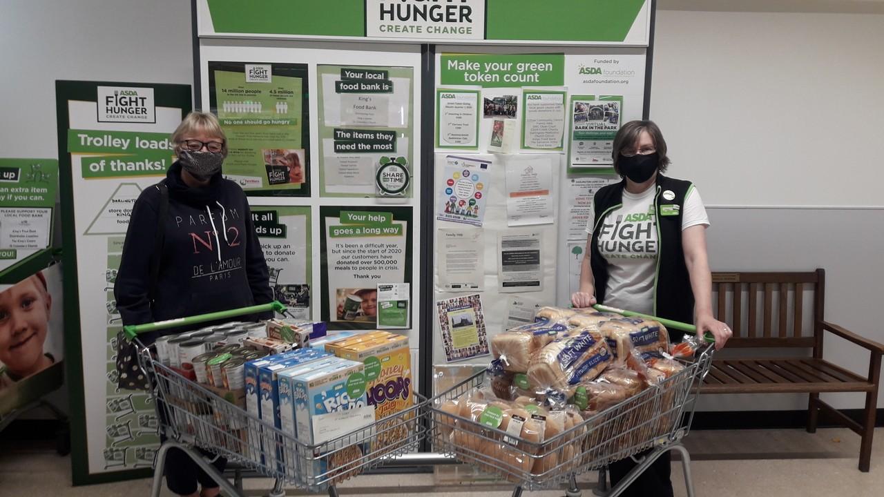 Supporting local food bank | Asda Darlington