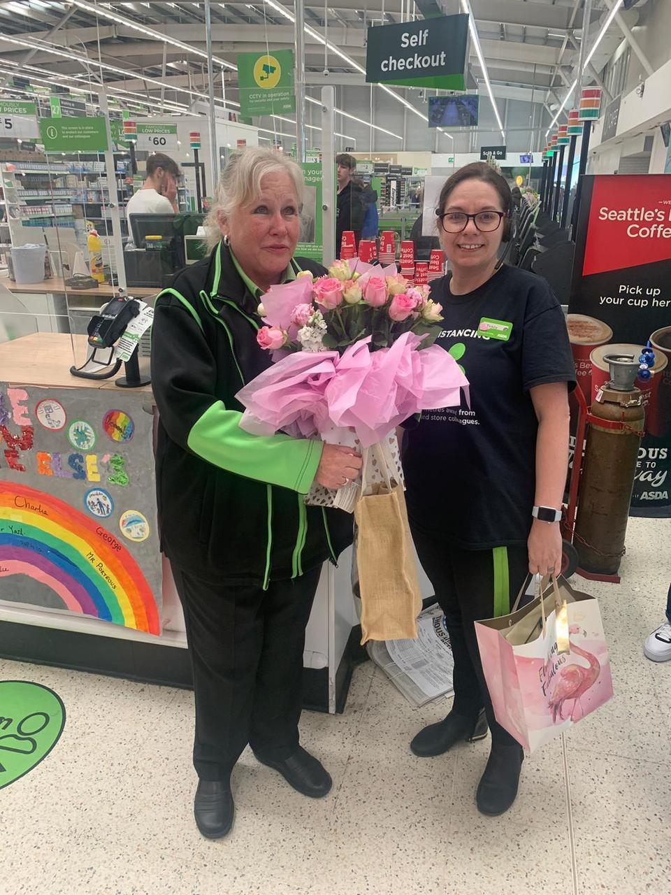 Tears all round as colleagues mark Pam's final day  | Asda Donnington Wood