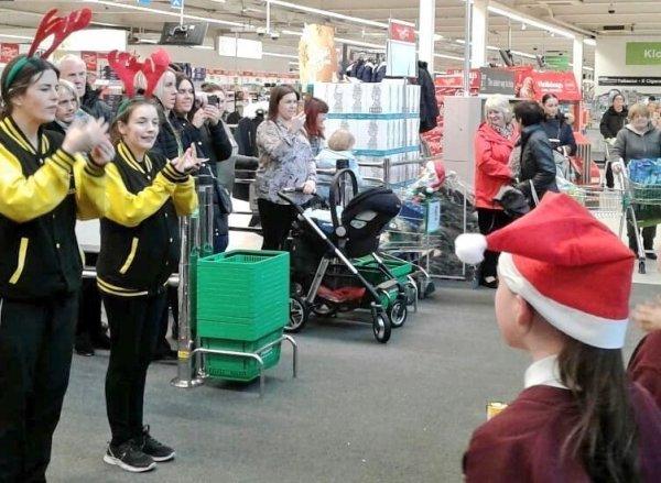 Choir at Asda Huyton Christmas 2018