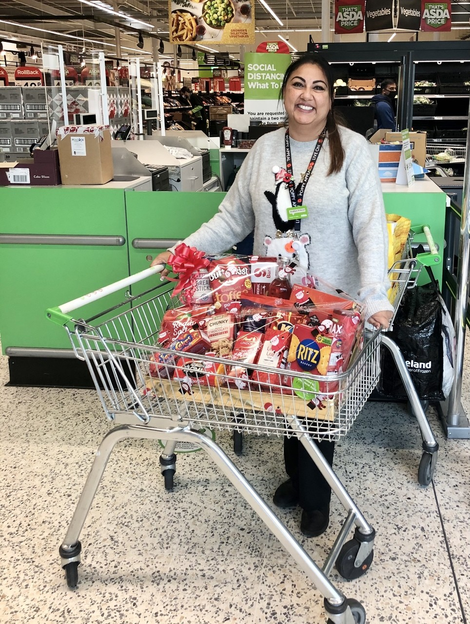 A festive donation! | Asda Leicester Abbey Lane