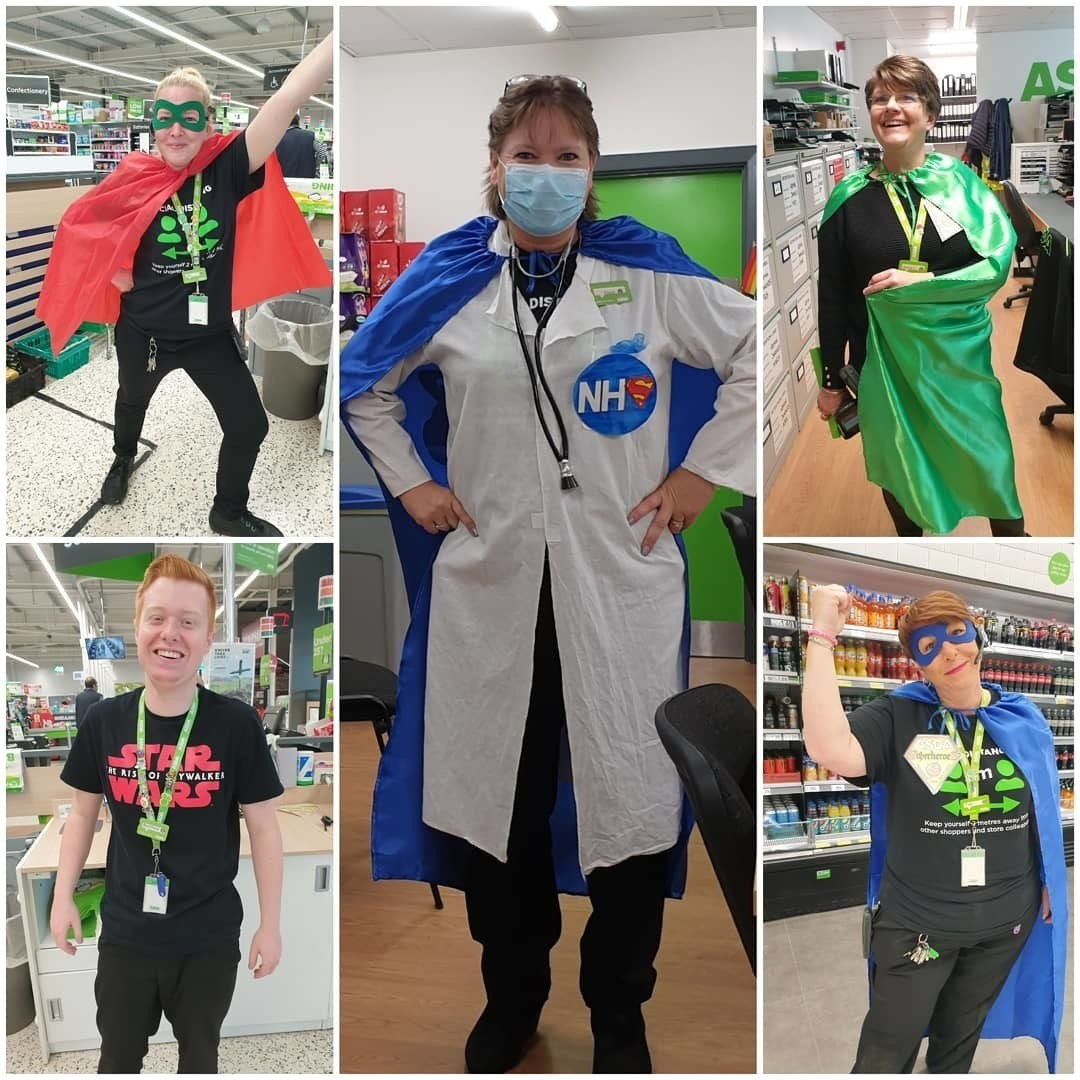 Wearing capes for our superheroes! | Asda Newport Isle of Wight