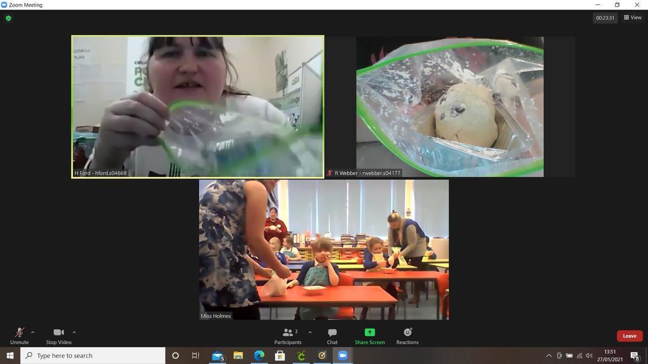 Teaching 'bread in a bag' on Zoom | Asda Fareham