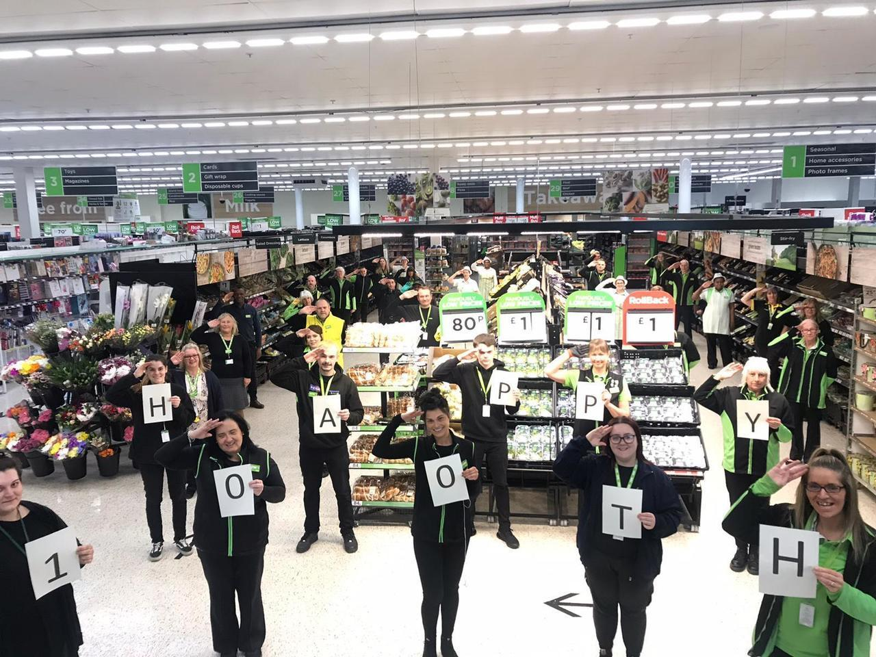 Happy 100th birthday Captain Tom | Asda Chelmsford