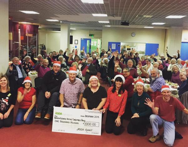 Katy Trapani from Asda Havant donating an Asda Foundation grant to The Beacon Elderly Active Group