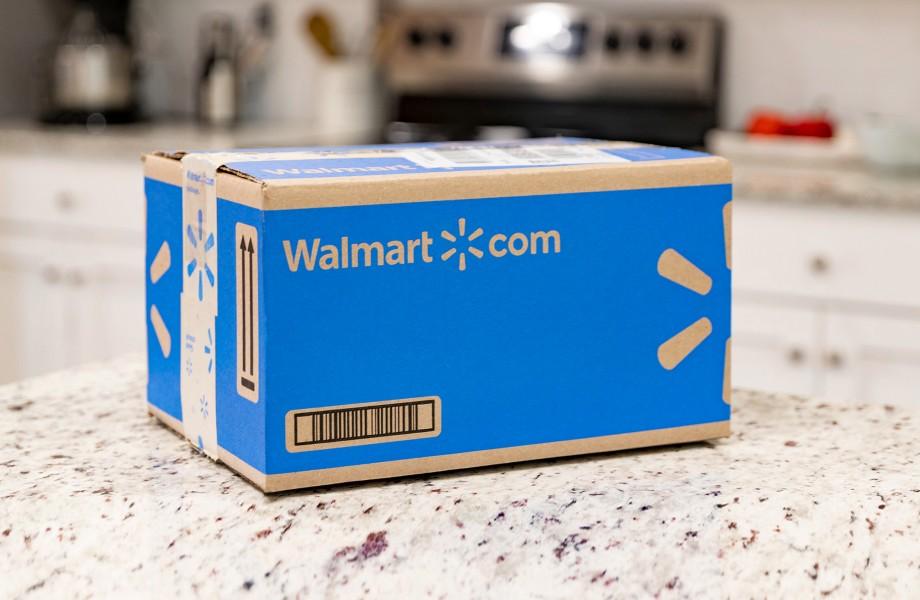 Walmart.com Shipping Box on Counter