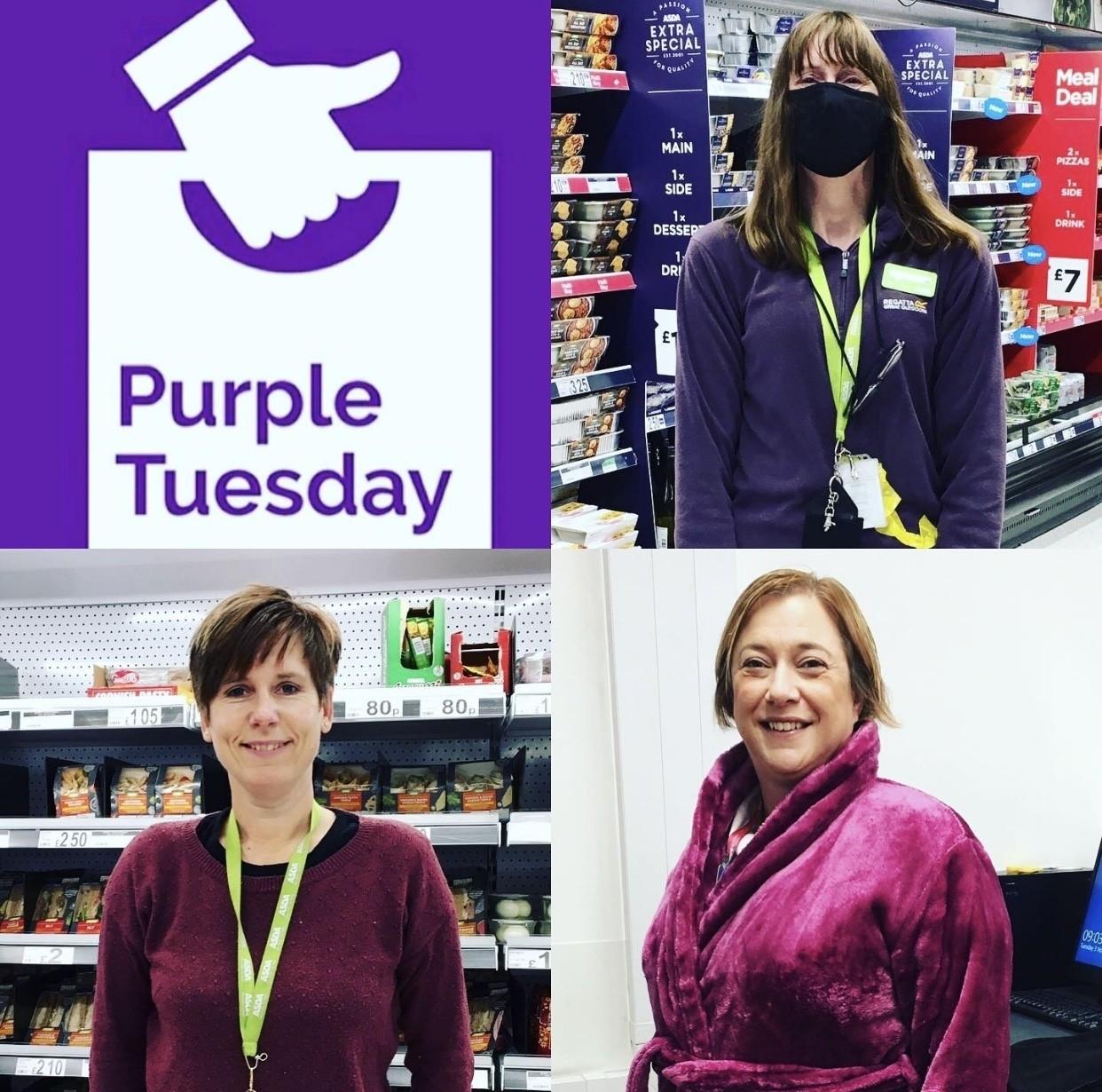 Purple Tuesday awareness | Asda Frome