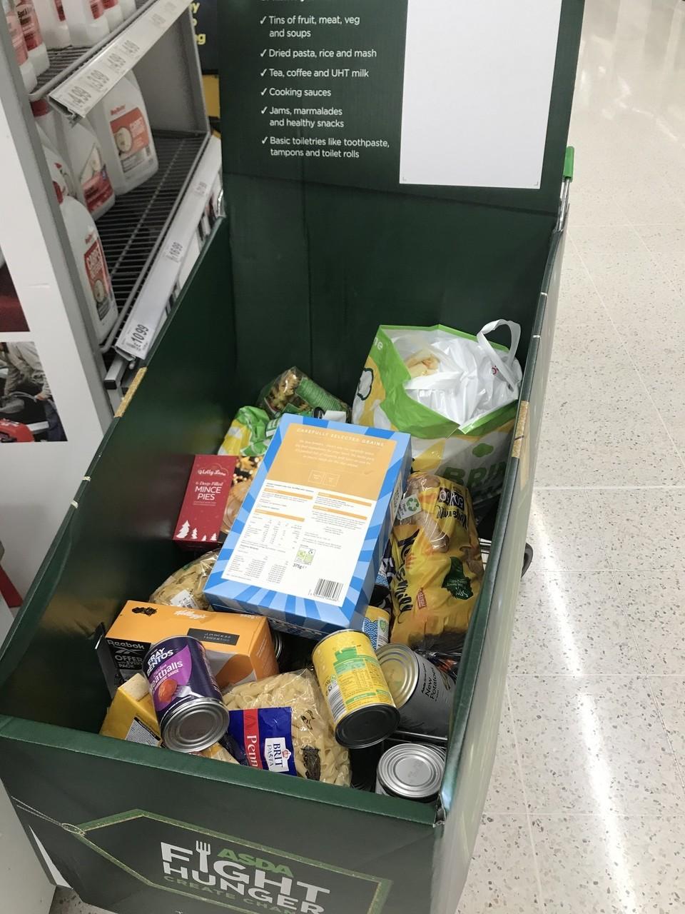 Food bank donations | Asda Cardiff Bay