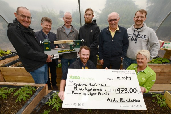 Asda Kilkeel donation to Rostrevor Men's Shed