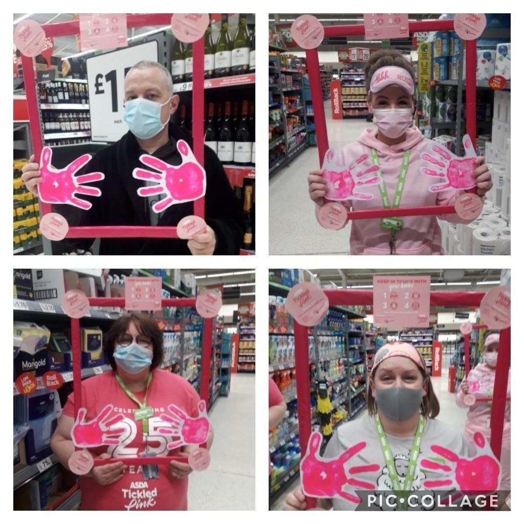 Pyjama fundraiser for Tickled Pink | Asda Colne