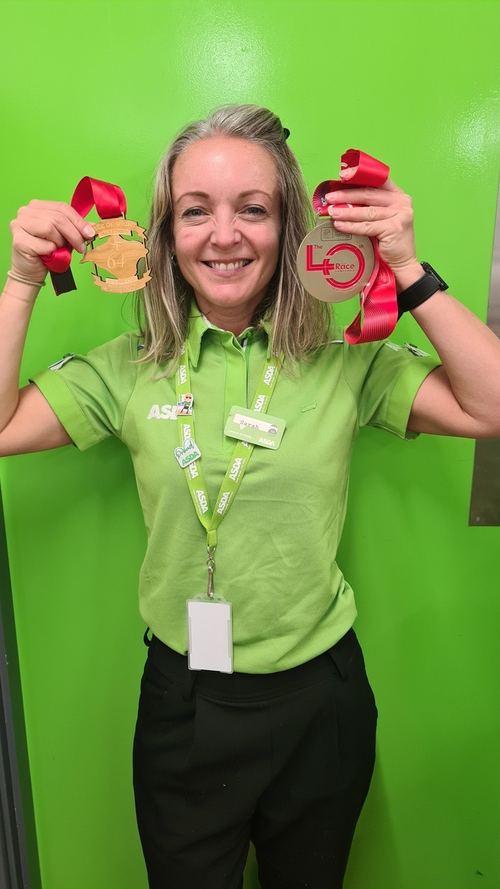 Well done Sarah  | Asda Newport Isle of Wight