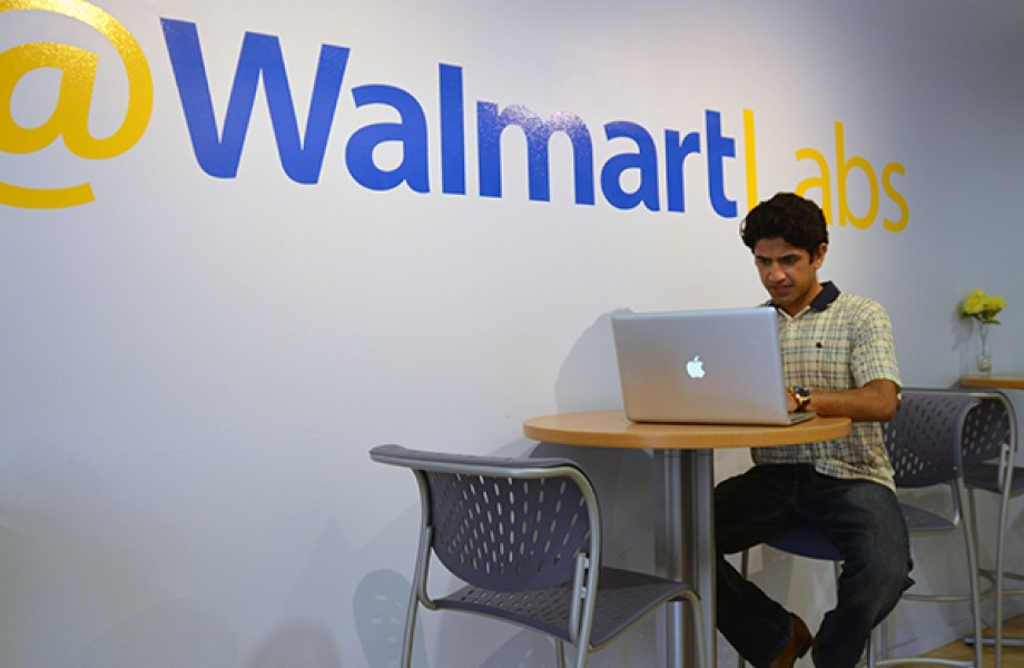 Cognitive Scientist Om Marwah with WalmartLabs Logo
