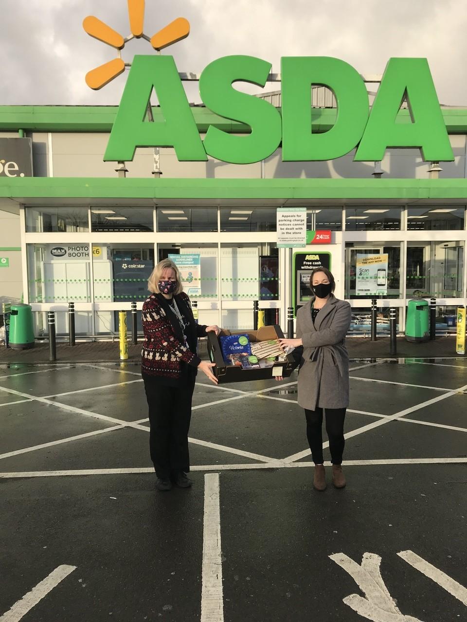 Gillingham School PTFA hamper donation | Asda Gillingham