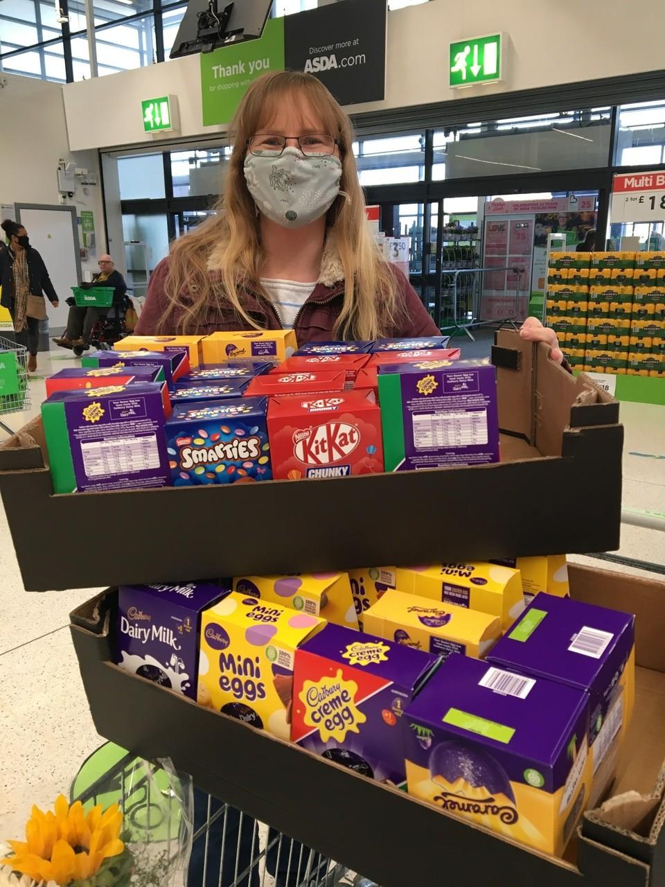 Donation of Easter Eggs to Friends of Lethbridge School | Asda Swindon Haydon