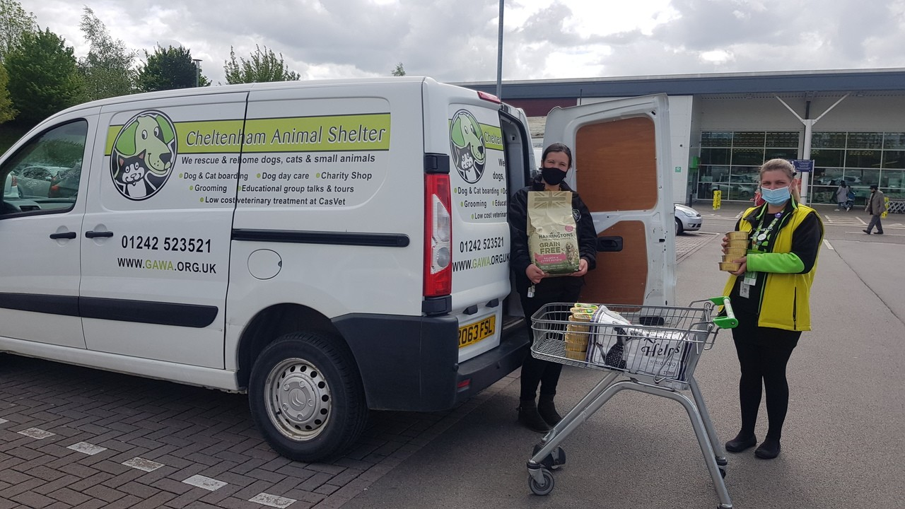 Cheltenham animal shelter donation | Asda Cheltenham