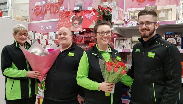 Valentine's Day at Asda Tonypandy