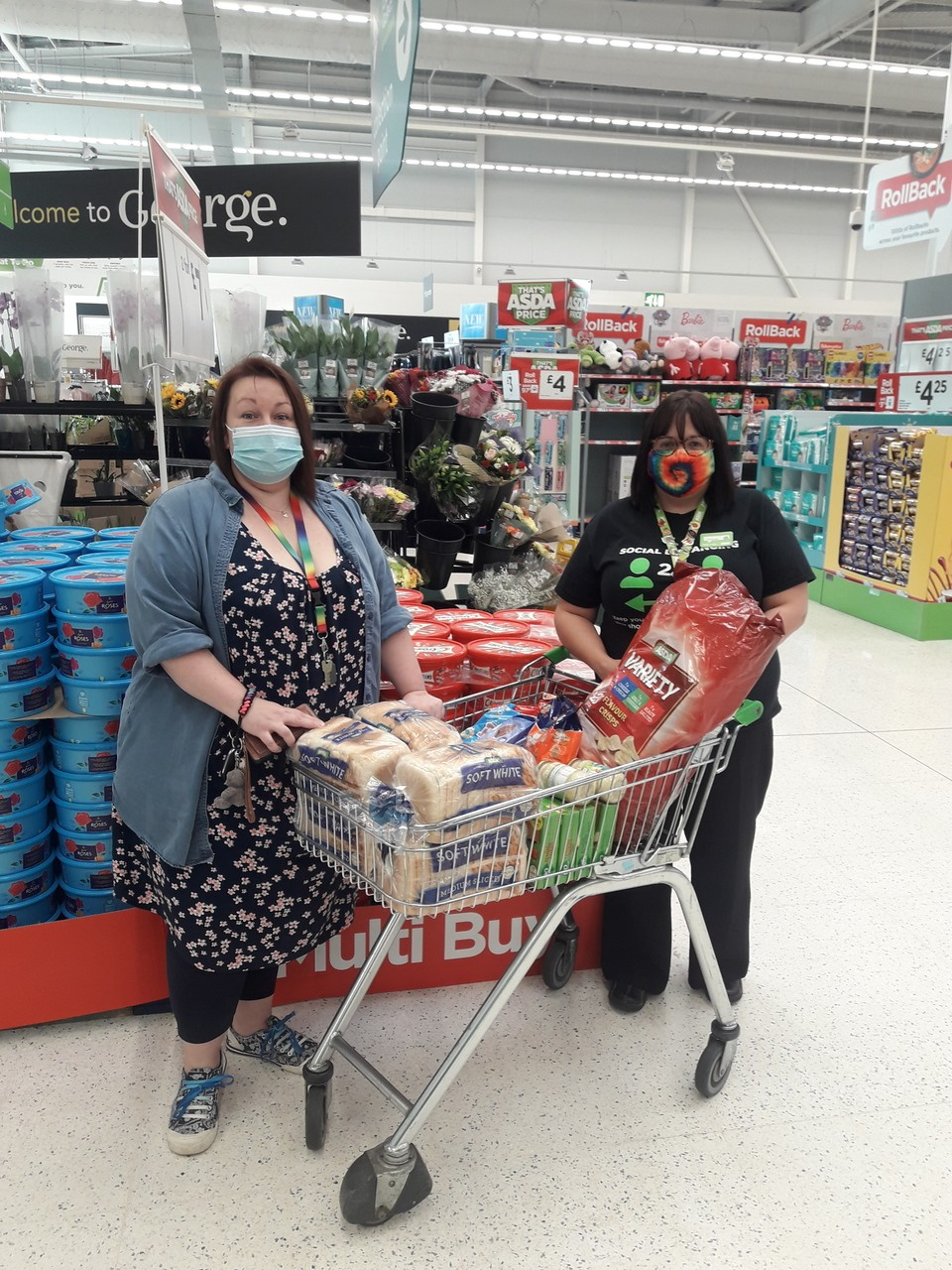 Meggs Day Centre donation | Asda Worcester