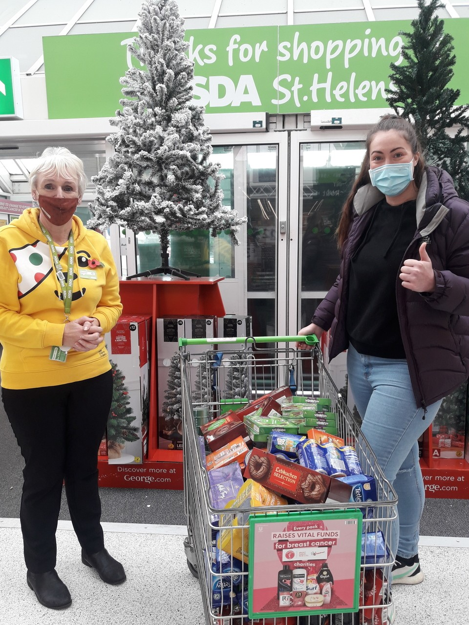 Donation to St Helen's Carers | Asda St Helens