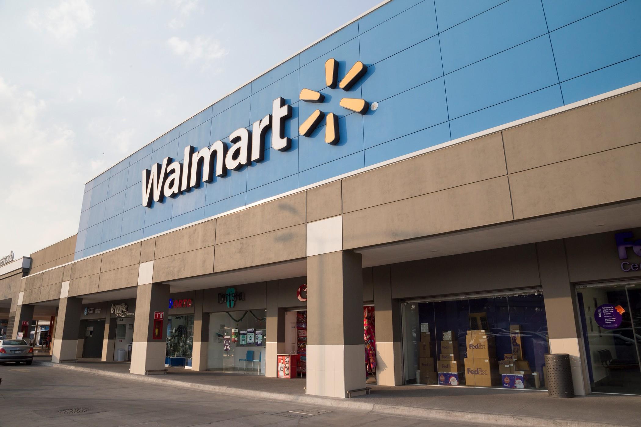 Walmart store exterior in Mexico