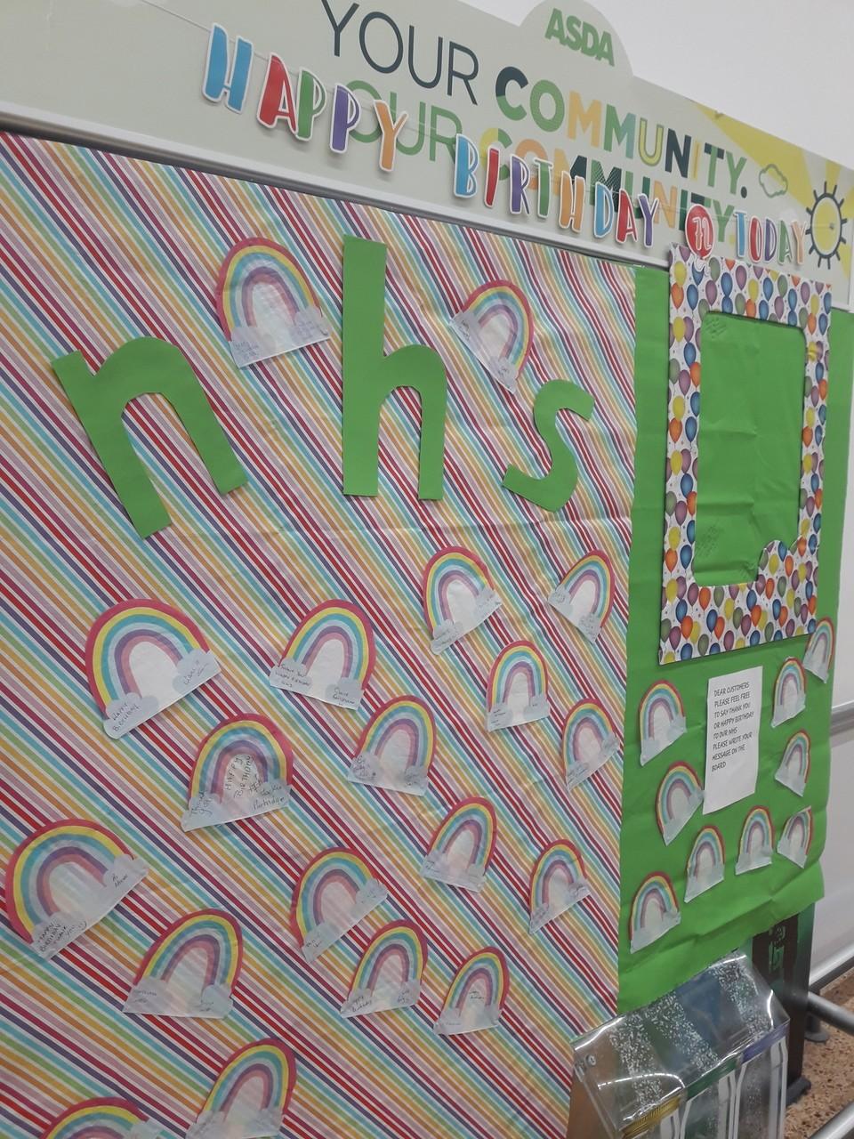 NHS 72nd birthday wall | Asda Harpurhey