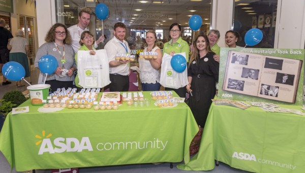 Asda colleagues hosting an NHS birthday party at Warrington Hospital