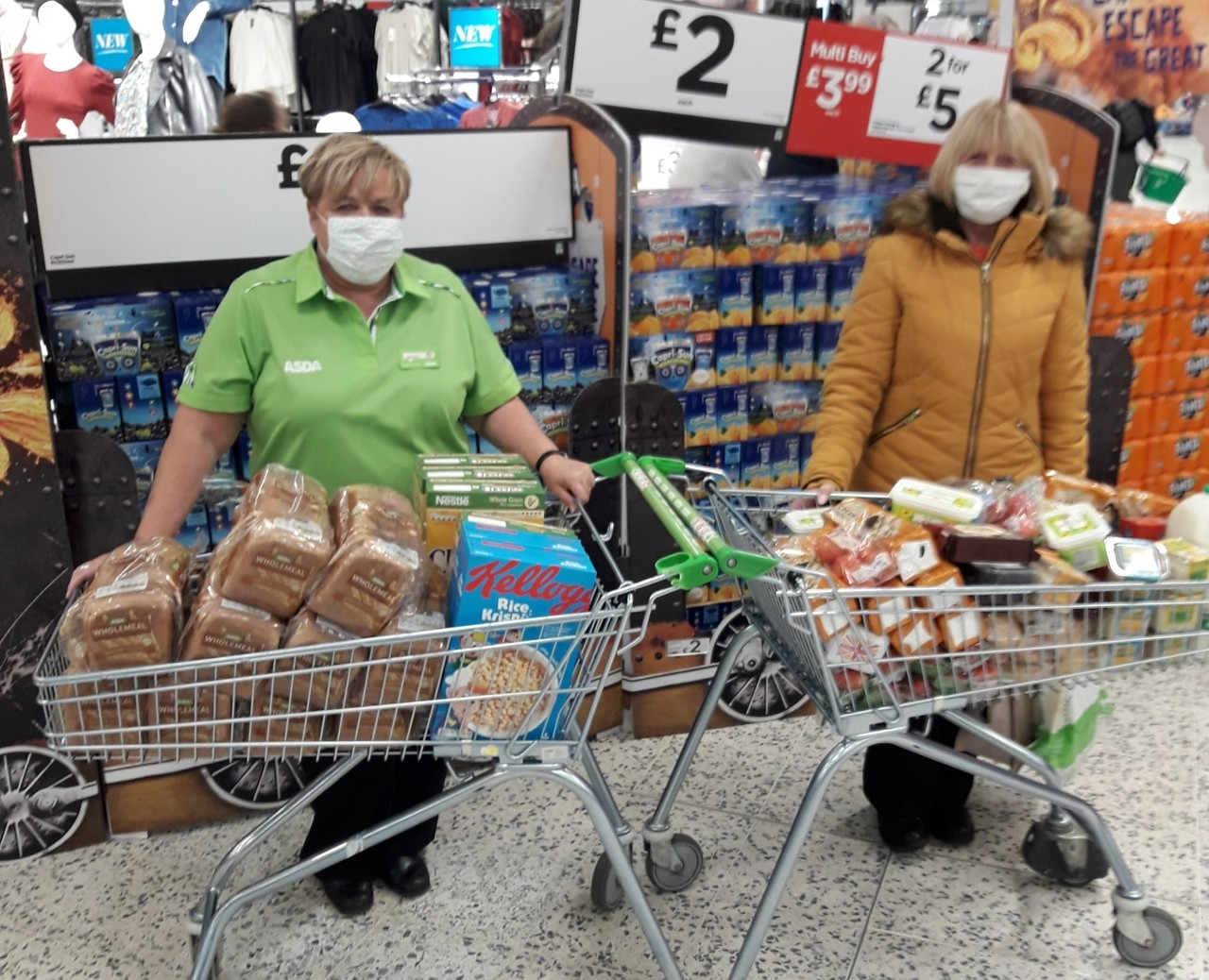 Donations to support our community   Asda Gosforth