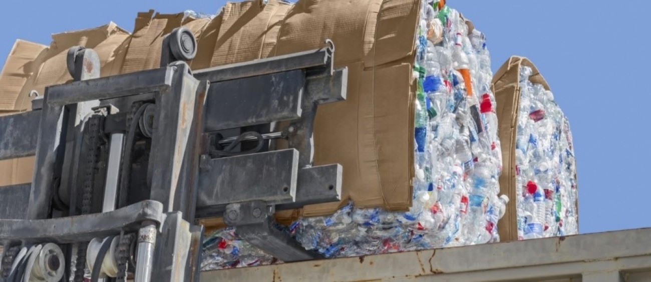 plastic waste bale